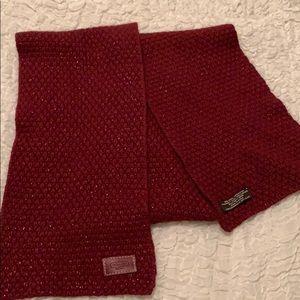 Coach scarf - burgundy red
